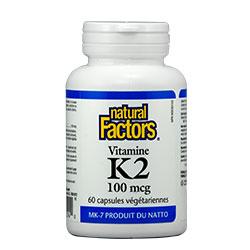 Витамин К2 100mcg x 60капсули Natural Factors