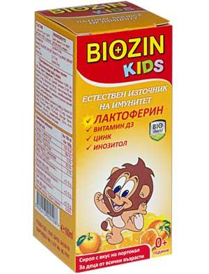 Биозин Кидс сироп с лактоферин, Biozin Kids Syrup 100мл