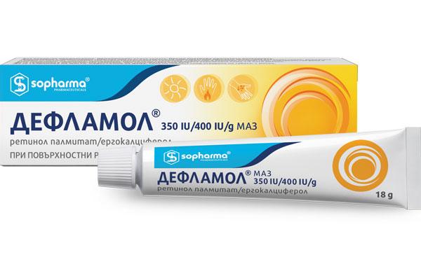 Дефламол, Deflamol маз 350IU/400 IU/g 18 g