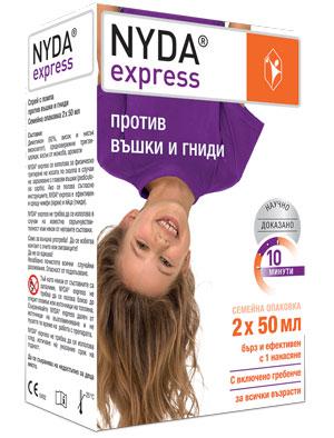 Найда експрес, Nyda express спрей против въшки и гниди 2 х 50 мл
