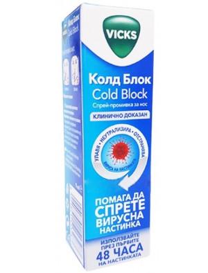 Викс Колд Блок, Vicks Cold Block спрей- промивка за нос 15 мл