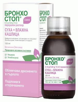 Бронхостоп Сине, Bronchostop Sine сироп за деца против кашлица 120 мл