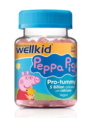 Уелкид Пепа Пиг, Wellkid Peppa Pig Pro-tummy Пробиотик 30 желирани таблетки