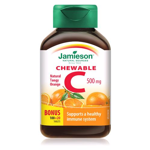 Витамин Ц 500 мг -JAMIESON vit C с портокал 500mg x 120